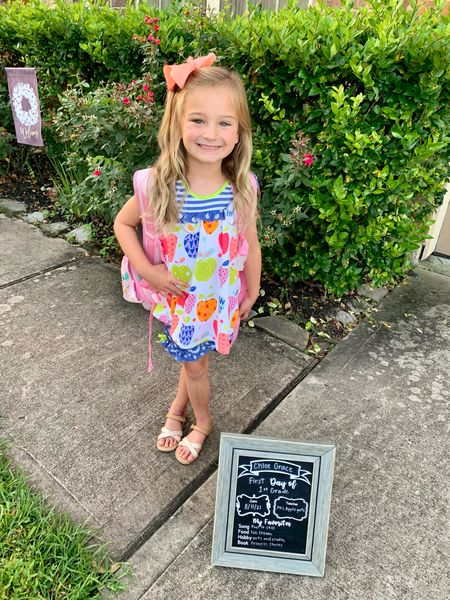 Back to school is here! Take a look at these sweet back to school outfits for preschool and elementary. First day of school outfit  #LTKkids #LTKunder50