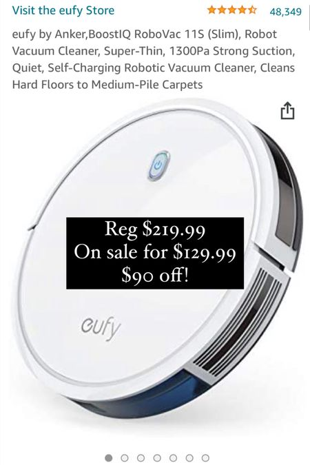 http://liketk.it/3i5s2 #liketkit @liketoknow.it Our #robotvacuum is on sale for #primeday! #Amazonfinds #LTKhome