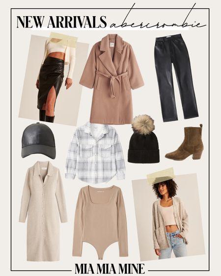 Abercrombie fall style picks / fall outfit ideas  Abercrombie camel coat Abercrombie faux leather pants Abercrombie shacket   #LTKunder100 #LTKstyletip #LTKSeasonal