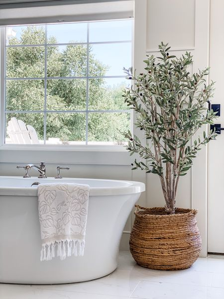 Self care Sunday🛀 This faux olive tree is one of my favorites in any space🌱  #LTKhome #LTKbeauty #LTKstyletip
