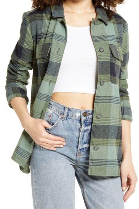 Plaid flannel shirt jacket | plaid shirt | plaid jacket | flannel jacket | nsale | Nordstrom sale #LTKsalealert #LTKunder50 #LTKstyletip @liketoknow.it #liketkit http://liketk.it/2VxYT