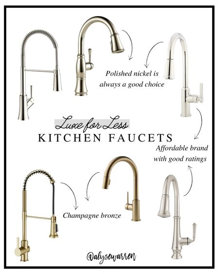 Update your kitchen faucet for a summer refresh!   Polished nickel, champagne bronze, Amazon finds, home decor   #homeinspo #homedesign  #LTKhome