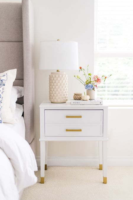 Are you team neutral or team colour? I get asked about these nightstands a lot and they now come in 8 colours for your neutral loving or colour obsessed heart!  You know which one I am but which one are you?   We've had nothing but rain the past two days and it definitely feels like coffee in bed and cozy nights in are here to stay 🤍  #LTKunder50 #LTKhome #LTKSeasonal