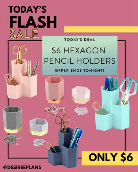 Today Only these cute @erincondren Hexagon Pencil Holders are only $6 !! Don't miss out ! Deal ends tonight!  Perfect for desk accessories, office space, back to school teacher essentials!   #LTKkids #LTKunder50 #LTKsalealert