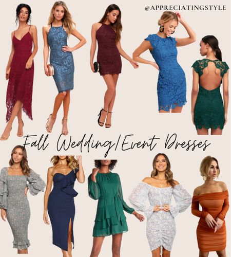 Some of my favorite finds for fall dress options! Perfect for your next fall wedding or event!! All under $100   #LTKunder100 #LTKwedding #LTKSeasonal