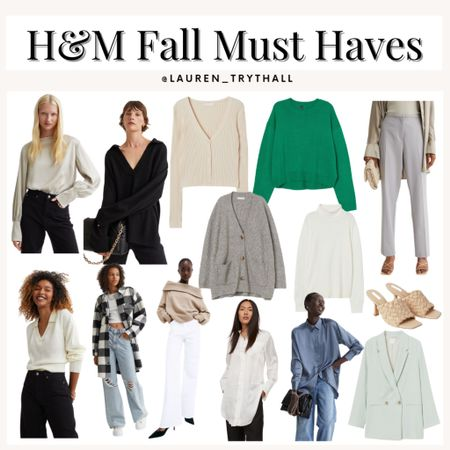 Fall outfits from H&M! Lots of affordable sweater options and cute pieces for your fall wardrobe  #LTKunder50 #LTKstyletip