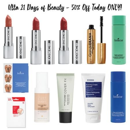 Ulta is having a huge sale with so many beauty goodies that are HALF OFF TODAY ONLY!! So many beautiful buxom lipsticks for only $10 from $20, pimple patches for under $10, and so many clean beauty primers, cleansers and so much more!   #LTKsalealert #LTKunder50 #LTKbeauty