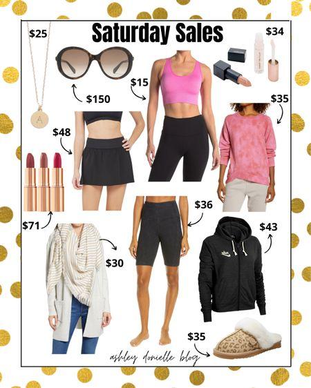 Saturday sales you don't want to miss! Activewear - sunglasses - lipstick - slippers!   #LTKsalealert #LTKstyletip #LTKbeauty