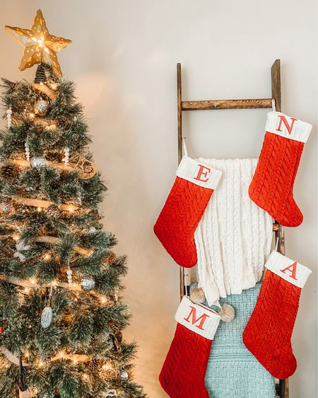 We decided to put our stockings on the blanket ladder this year...  I think they found their new home. 🎄 http://liketk.it/32ODy  #liketkit @liketoknow.it