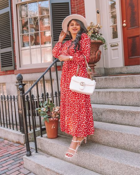 Happy almost weekend 🙌🏽 You guys I found the perfect Red printed Maxi dress for the Spring/Summer from @amazonfashion It fits TTS (wearing S), and under $40 . . Shop the look  1️⃣ http://liketk.it/3ckYa  2️⃣ link in bio   #liketkit #LTKunder50 #LTKstyletip #LTKsalealert Shop my daily looks by following me on the LIKEtoKNOW.it shopping app @liketoknow.it