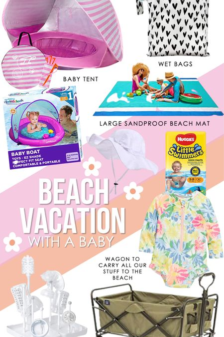 http://liketk.it/3gfkQ @liketoknow.it #liketkit  Beach vacation Beach essentials Traveling with a baby Beach baby  Baby must haves  Beach trip