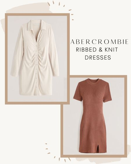 Abercrombie Ribbed & Knit Dresses! Perfect fall dresses! Especially to beat this heat wave in the fall!   #LTKstyletip #LTKSale #LTKsalealert