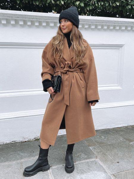 Love layering with this beautiful Mango wrap coat 🐪   #LTKSeasonal #LTKstyletip #LTKeurope