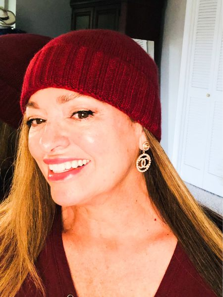 Cashmere toboggan ( unisex) …… and CC earrings… So girly and Luxe…. This beanie would make a fabulous gift or Stocking Stuffer! Timeless and fabulous quality and available in Many colors…   #LTKstyletip #LTKHoliday #LTKGiftGuide