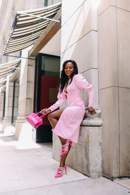 Some pink Sunday FunDay. Loving this pink dress   #LTKwedding #LTKSeasonal