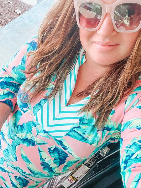 This coverup is swimsuit material which makes it easily one of my favorites. Linked here from Cabana Life and sunglasses from 30A Mama http://liketk.it/3glYV #liketkit @liketoknow.it #LTKswim #LTKtravel #LTKunder100