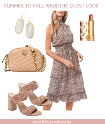 Summer to fall wedding guest look- pair a floral dress with heels   #LTKshoecrush #LTKstyletip #LTKSeasonal