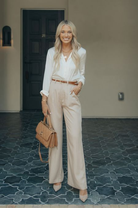 @champagneandchanel here again! I absolutely love this classic workwear look 🤍 These pieces will never go out of style & can be used to create many more business casual looks!