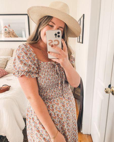 Sundress season 🌸🌞 wearing my longtime favorite hat and a cute thrifted dress! Linked similar   #LTKunder100 #LTKSeasonal #LTKstyletip