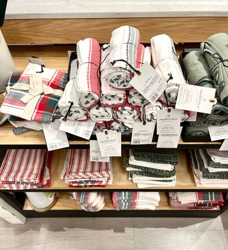 Hearth and hand by magnolia has their linen collection out for the holidays! They are beautiful plants of reds and greens and creams!  Kitchen Christmas , Kitchen Linen's, Christmas napkins, potholders, gingham, Christmas plaid, target home, target Finds, placemats, centerpiece, Christmas dining table  #LTKHoliday #LTKhome #LTKstyletip