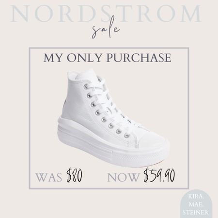 nordstrom sale // anniversary sale // white sneakers // converse // high tops // fall shoes   #LTKsalealert #LTKstyletip #LTKshoecrush