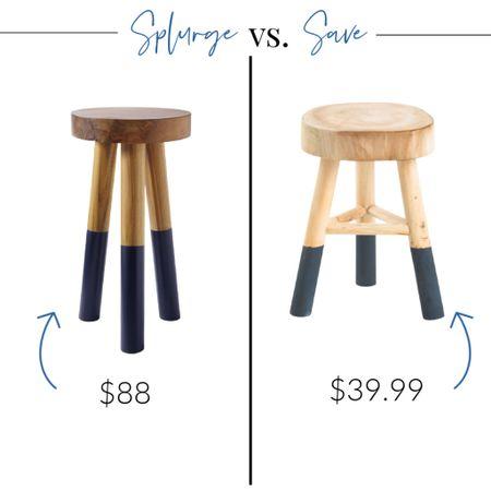 Splurge vs. Save dip-dyed stool edition! They're back in blue!    http://liketk.it/3jAjV #liketkit @liketoknow.it @liketoknow.it.home #LTKhome #LTKsalealert #LTKstyletip