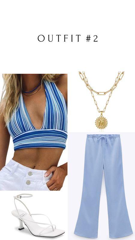 Amazon, Zara and Nordstrom finds 🛒   Zara Pants: Color Sky blue | 7936/020  #LTKSeasonal #LTKsalealert #LTKunder50