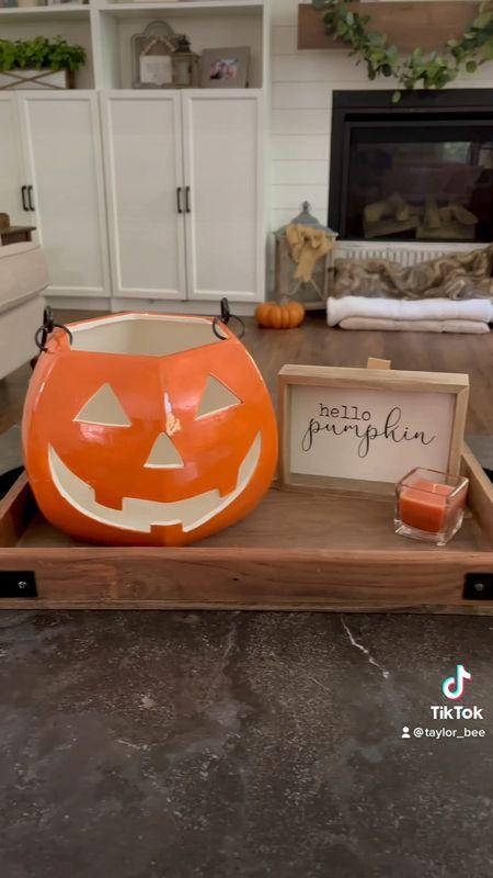 Decorate for fall with me!   Halloween home decor Home decor Fall home decor Decorating  Decor Decorate  Home decorating   #LTKstyletip #LTKsalealert #LTKSeasonal