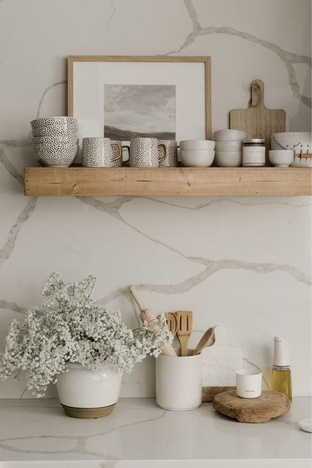 Walmart home fall trends: create the perfect fall home with these trendy designs for your kitchen!   Kitchen, dinnerware, magnolia home, modern farmhouse, serving ware, coffee mugs, bowls, plates, frames, floating shelves.    #LTKhome #LTKSale #LTKsalealert
