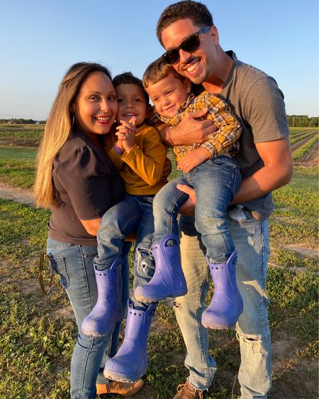 Throwback Thursday to the farm last weekend! The boys just had to wear their crocs! I didn't mind since the farm gets our shoes dirty and they're easy to clean and are super cute! What's better than matching rain boots for your boys. 💙💙 http://liketk.it/2WIUE #liketkit @liketoknow.it