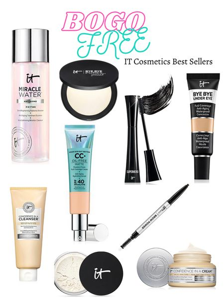 Buy one get one free it cosmetics Cleanser Setting powder Mascara Brows Matte cc   #LTKbeauty #LTKunder50 #LTKsalealert