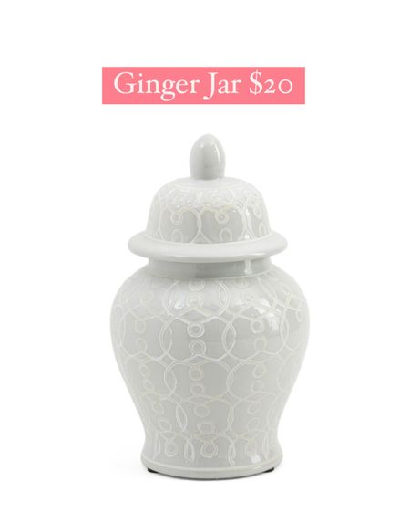 New arrival! Small ginger jar only $20! Hurry, won't last long! I bought the larger size a few years ago and it's still one of my faves!  @liketoknow.it #liketkit http://liketk.it/3hU83 #LTKhome #LTKsalealert #LTKunder50 tjmaxx finds, chinoiserie, blue and white decor, ginger jars, temple jar, white vase with lid, urn, home decor, glam decor, grandmillennial