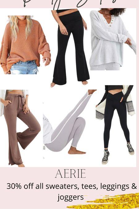 Daily Sales: Aerie 30% off sweaters, tees, leggings and joggers   #LTKunder50 #LTKsalealert #LTKunder100
