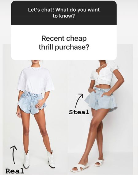 These misguided shorts are a tenth of the price of the Alexander Wang Denim shorts. Linking exacts below.   #LTKunder50 #LTKSeasonal #LTKstyletip