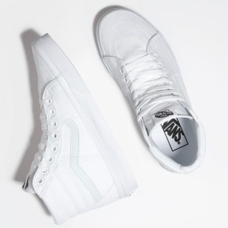 My first @vans ever and I'm loving them! I went straight for the high top sneaker look because why not?! High tops are definitely a sneaker trend right now and look so cute with cropped pants and shorts, skirts and dresses too! I had to get white because well that's my thing right now. These are the exact shoe I ordered, but there are so many great styles and colors to choose from. True to size!   http://liketk.it/39vjJ #liketkit @liketoknow.it #whitesneakers #hightops   Follow me on the LIKEtoKNOW.it shopping app to get the product details for this look and others