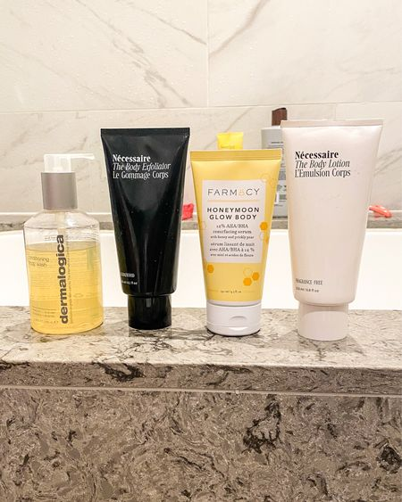 My nighttime body skincare routine — helps prevent chest and back acne, and makes my skin super smooth!   #LTKbeauty