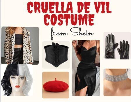 Cruella de vil inspired costume👻🤩 everything is from shein!!!  #LTKfit #LTKstyletip #LTKSeasonal
