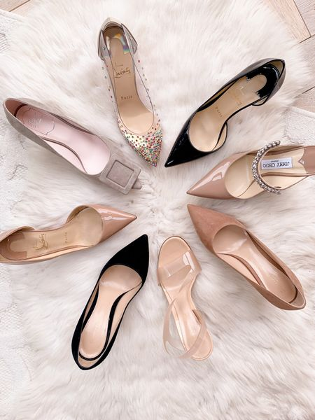 Luxury shoes galore! ✨  Christian Louboutins with the sparkles run small IMO (I sized up half a size). All others run TTS 😊❤️