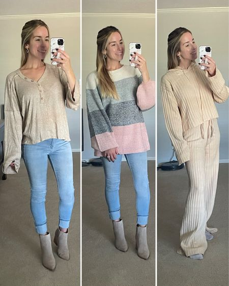 Recent Pink Lily finds! Use code BOO for 25% off until 1pm CST, and 20% off until midnight tonight!  Balloon Sweater Lounge set Henley   #LTKsalealert #LTKSeasonal #LTKunder50
