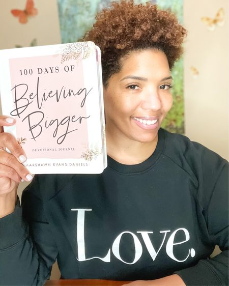 I stopped making A New Year's Resolution a few years ago. It's not necessary because I am constantly evolving and growing. 2021 about FLYing and Believing Bigger. This sweatshirt and devotional are perfect. Shop your screenshot of this pic with the @liketoknow.it shopping app. http://liketk.it/3559y #liketkit