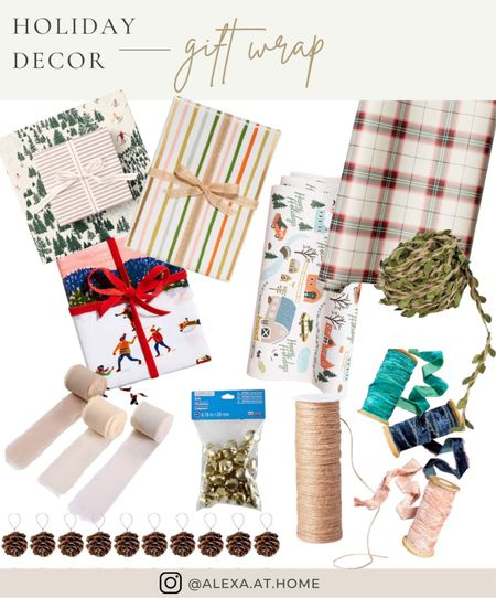 Holiday decor - gift wrap   Holiday gift wrap, Christmas gift wrap , gift wrap ideas , wrapping paper, Christmas wrapper paper   #LTKHoliday #LTKhome #LTKSeasonal