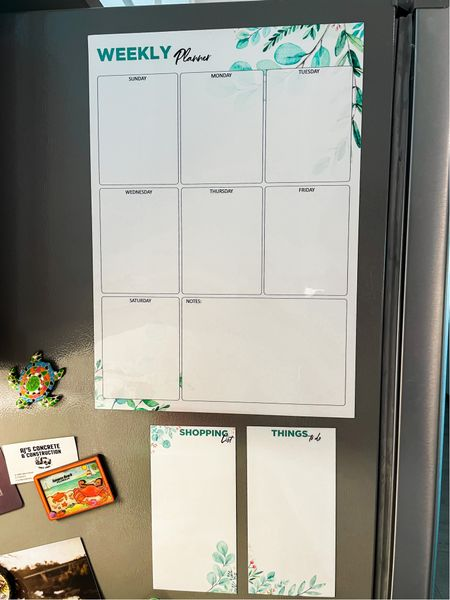 Weekly magnetic planner for your fridge! Stay organized this school year  #LTKhome #LTKunder50 #LTKbacktoschool