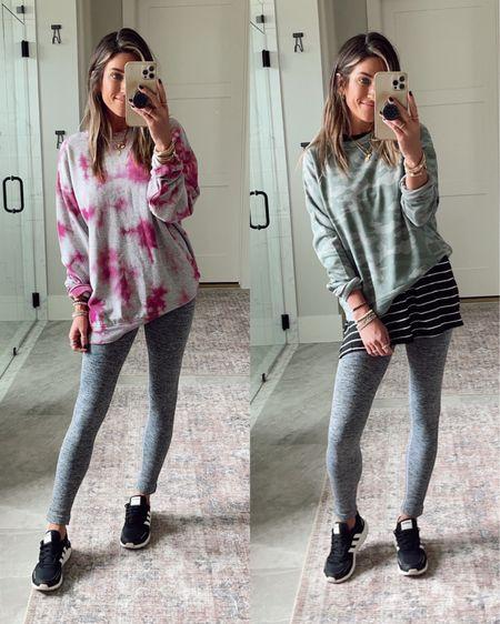 Size xs in target leggings Size small in sweatshirts.      #LTKtravel #LTKunder50 #LTKshoecrush