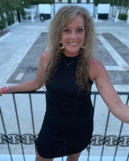 Short black mini dress size small / vacation / resort style / date night / sexy dress / bodycon  / night out http://liketk.it/3jPHP #liketkit @liketoknow.it #LTKstyletip #LTKunder50 #LTKcurves