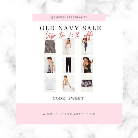 "Old Navy Sale! Up to 75% off! Most items use code: ""Sweet""   #LTKsalealert #LTKstyletip #LTKfit"