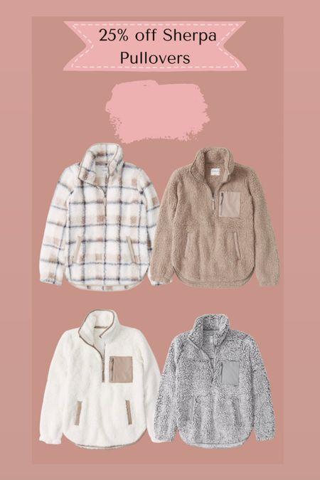 Abercrombie sherpa pullovers 25% off   #LTKsalealert #LTKSale #LTKSeasonal
