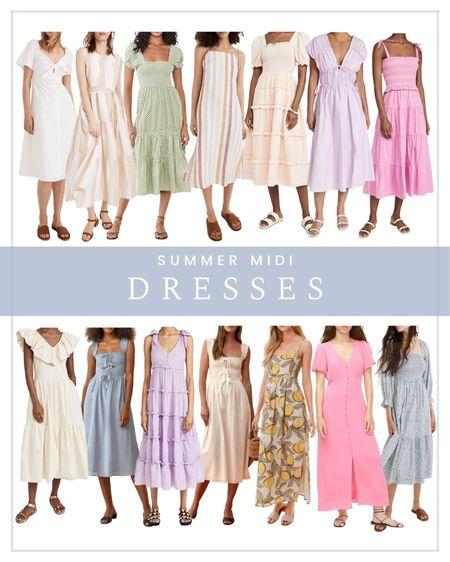Summer midi dresses   #LTKSeasonal #LTKunder100