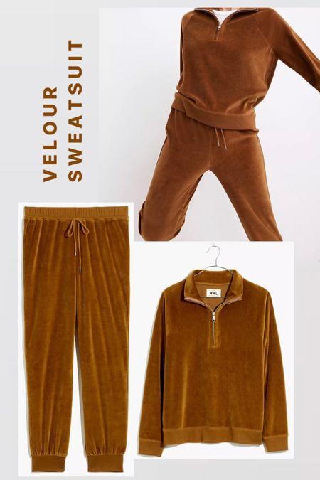 Madewell sale. Velour sweatsuit. Matching sets. Loungewear. Women's fall fashion.  #LTKGiftGuide #LTKSale #LTKsalealert