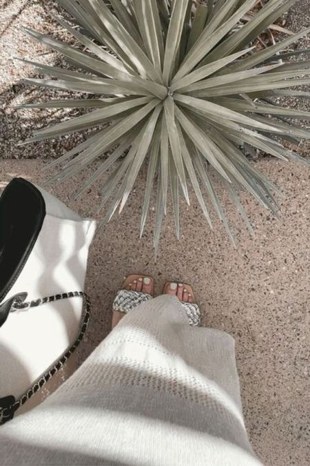 vacation coverup, sandals and tote linked #vacation   #LTKswim #LTKtravel