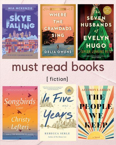 6 must read fiction books    #LTKunder50 #LTKGiftGuide #LTKhome